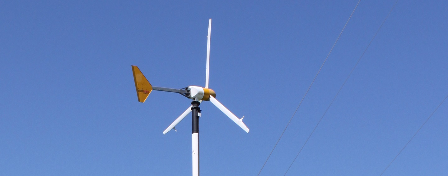 wind turbine at Kortright Centre
