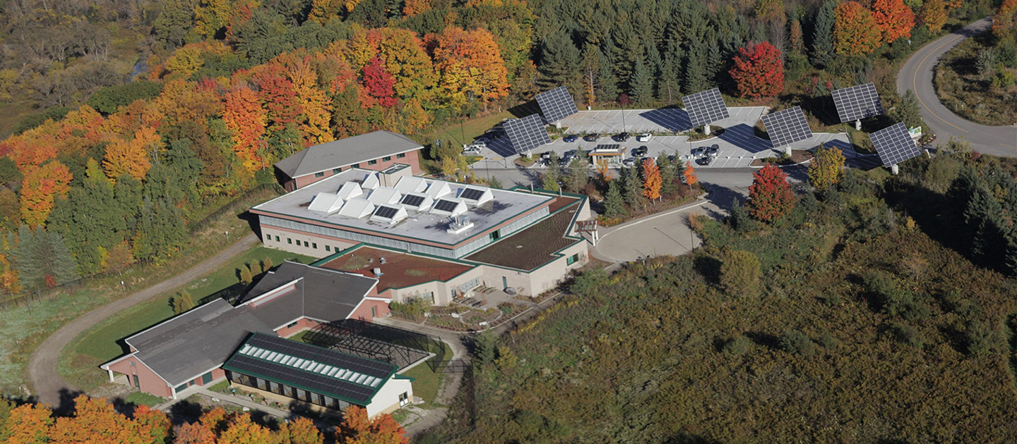 aerial view of Earth Rangers Centre