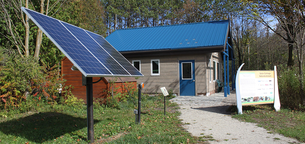 off grid learning centre at Kortright