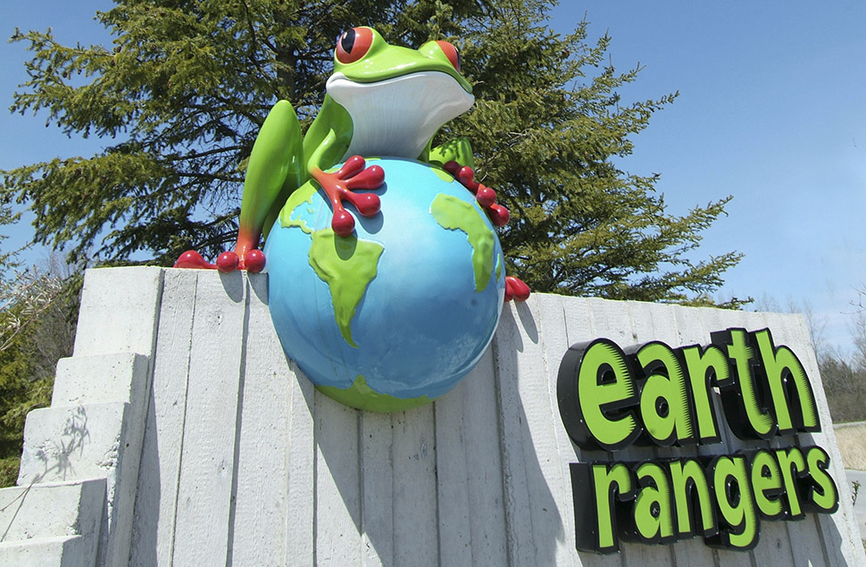entrance to Earth Rangers Centre