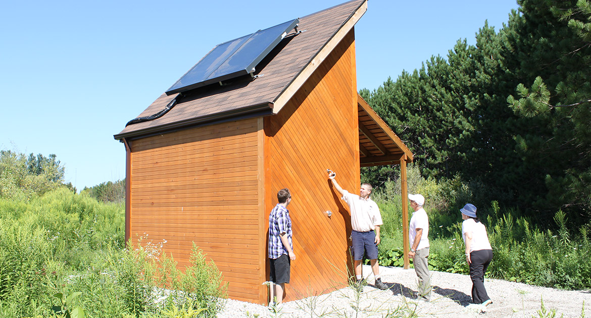 solar heating demonstration at Kortright Centre