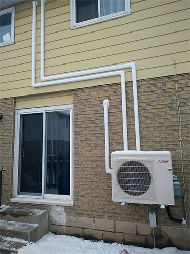 Air Source Heat Pump retrofit project - Brampton